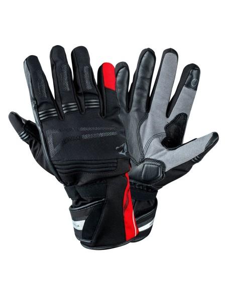 BELA - Guante Piel Iglo Winter WP Negro/Rojo Fluor