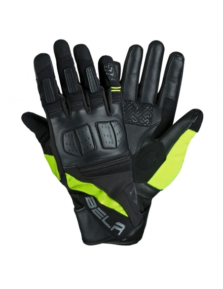 BELA - Guante Piel Highway Winter WP Negro/Amarillo Fluor