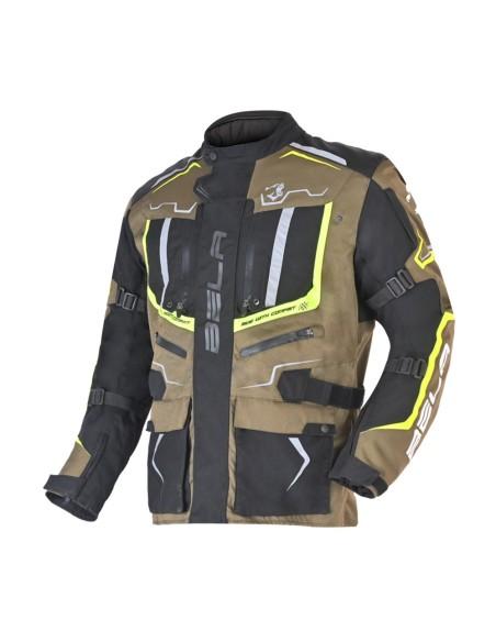 BELA - Chaqueta Textil Watson Negro/Caqui/Amarillo/Blanco