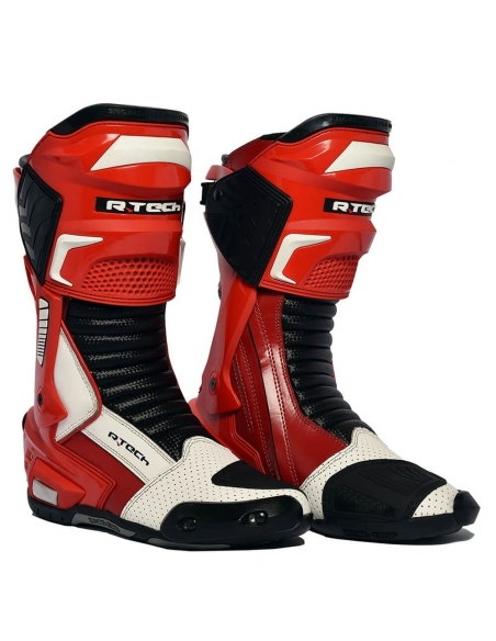 R-Tech Speedo Racer Motorcycle Boots Red